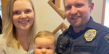 DREPT: Politibetjent Cody Holte ble revet vekk fra familien sin. Du har sannsynligvis ikke hørt om ham.