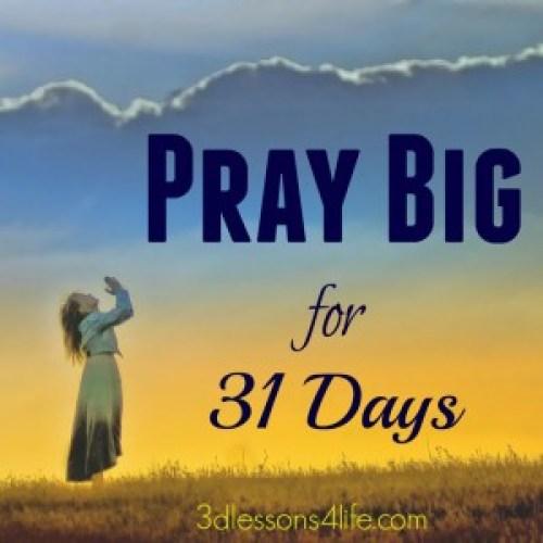 Pray Big for 31 Days Button