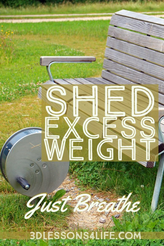 Shed Excess Weight | Just Breathe for 31 Days - Day 4 | 3dlessons4life.com