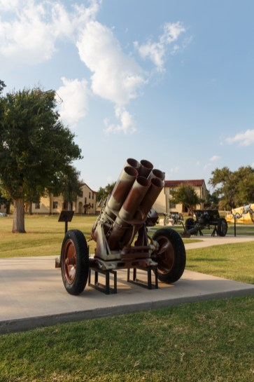 The famed German Nebelwerfer rocket launcher from World War II on the new Canon Walk at Ft Sill.