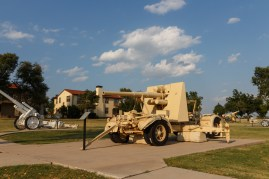 The famed German 88mm from World War II on the new version of Canon Walk at Ft Sill.