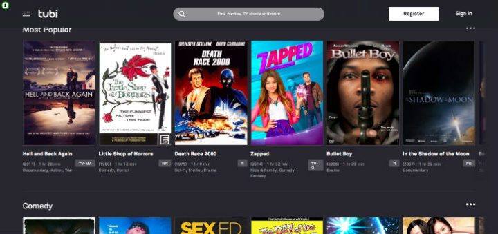 free movies and tv shows online