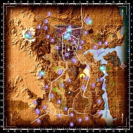 Fallout new vegas coloured map and icons