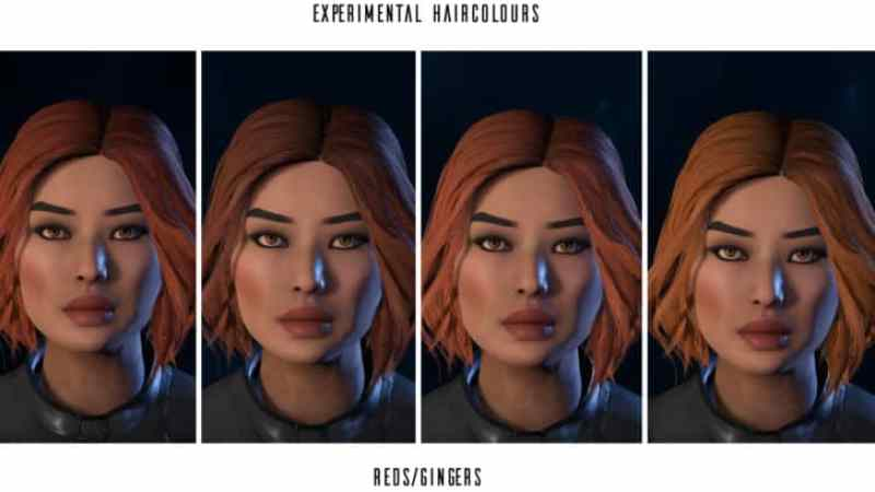Femshepping's Hair Color Edits