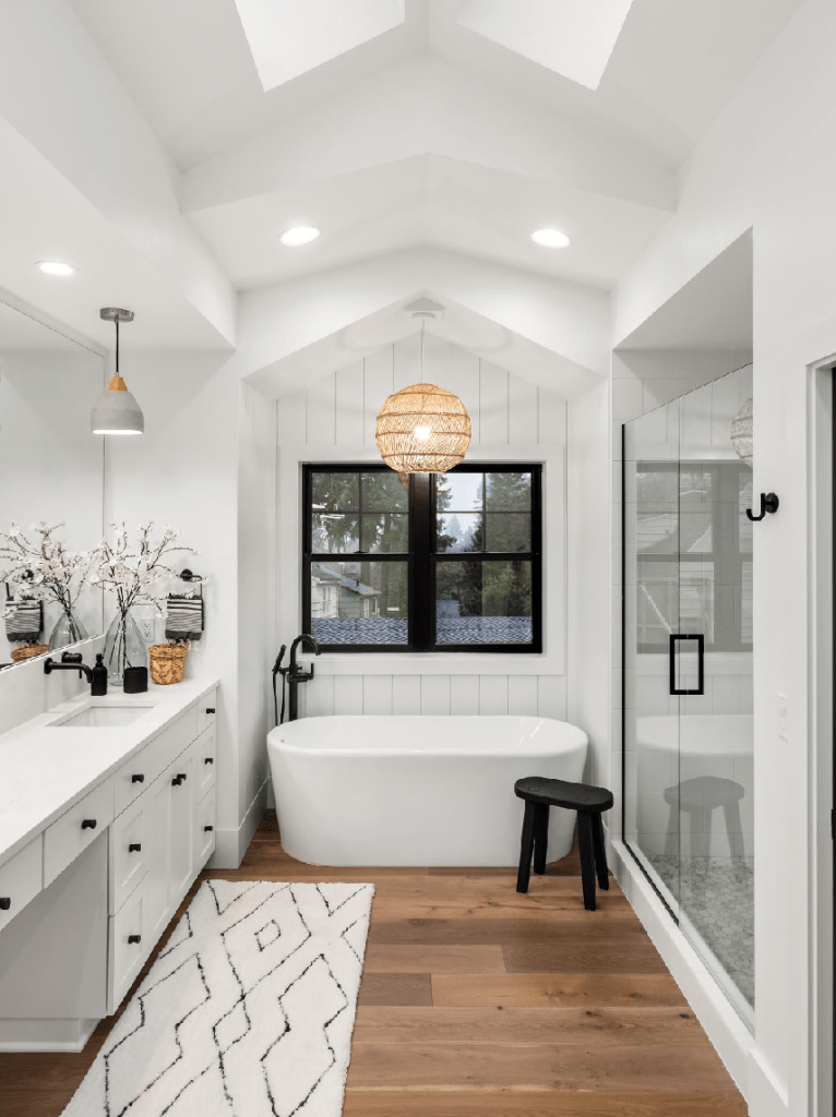 An inspiring bathroom finished in white