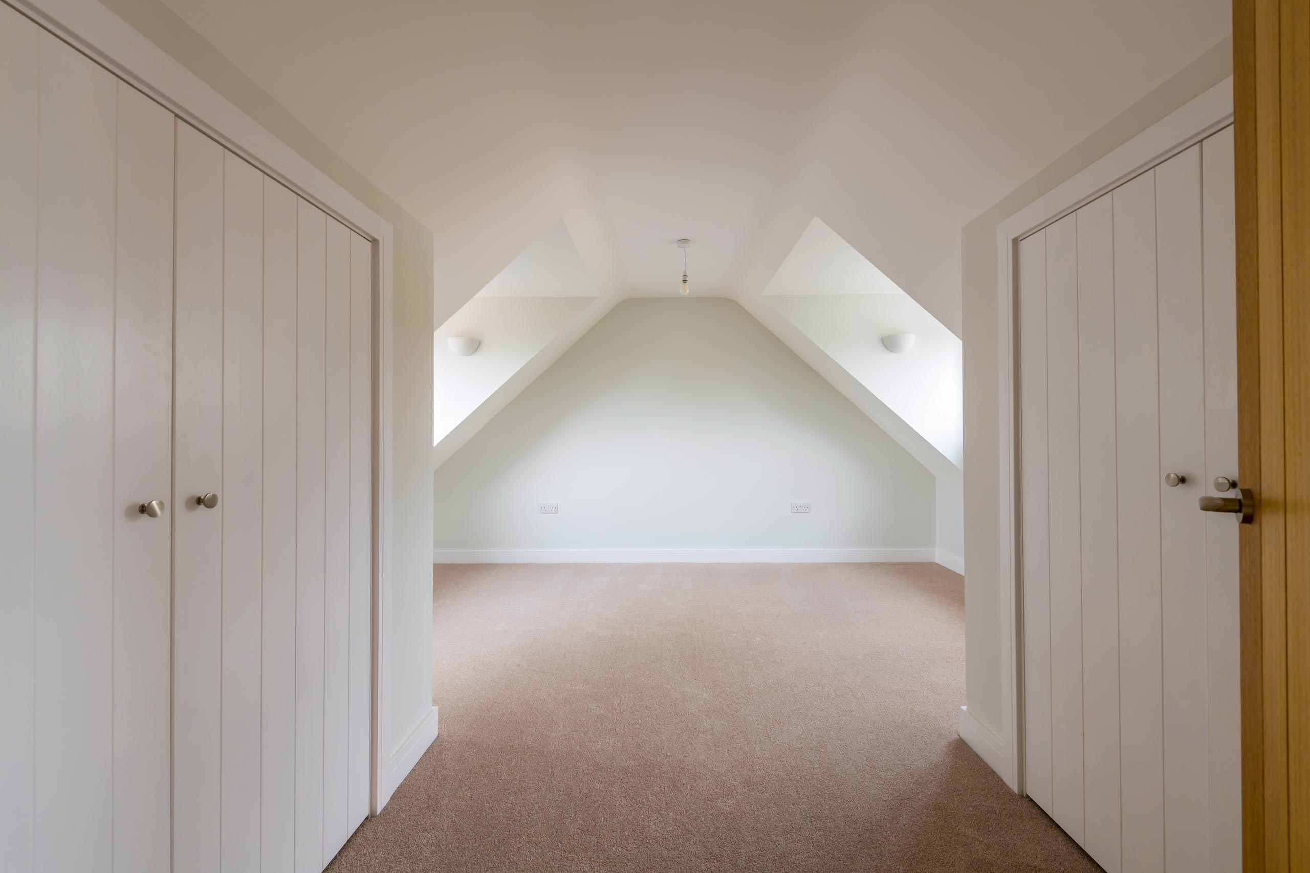 A newly finished loft conversion in Oxford
