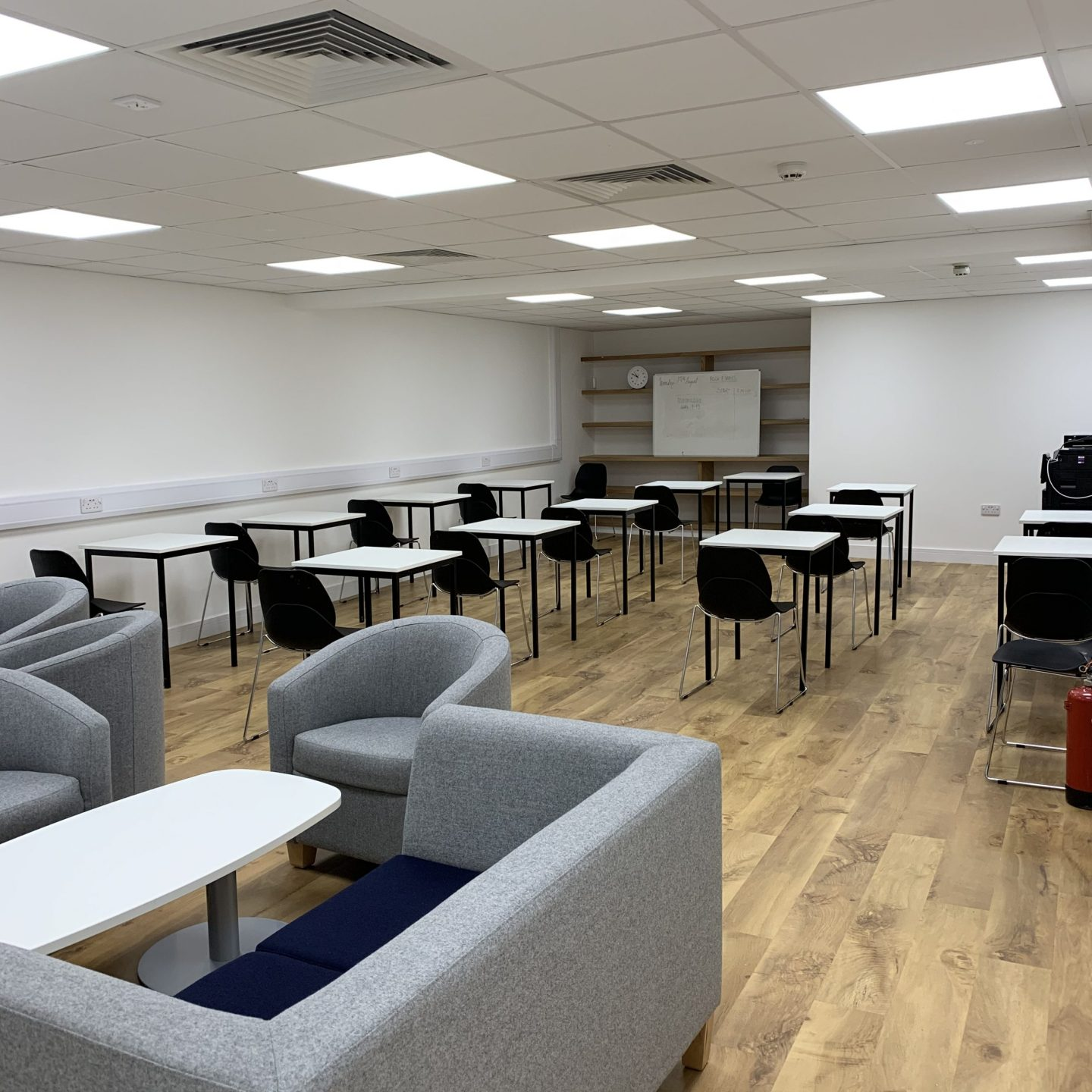 A renovated classroom at the Oxford International College