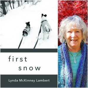 "Photo of book cover for ""first snow"" a chapbook by Lynda McKinney Lambert"