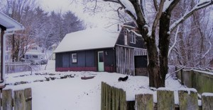 A View of River Road Studio - on a snow day