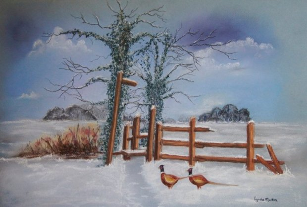 Winter scene of the Lincolnshire Wolds