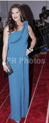 Brooke Shields on Grayish Blue