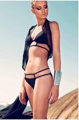 Hot Black Sexy Strappy Bikini SwimwearBlack