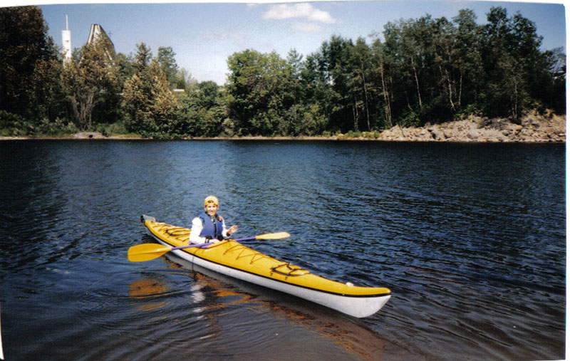 Lyne Tremblay en Kayak