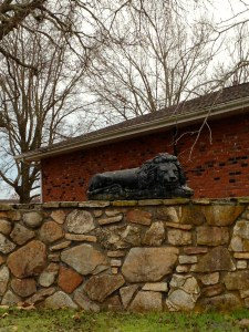 The only lions on this property, but kitschy cool