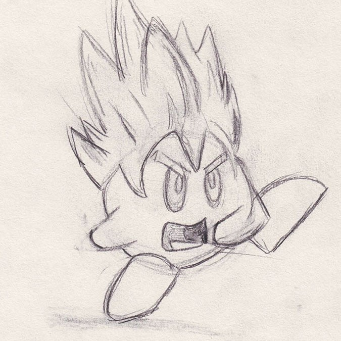 Sketch of the Day – Kirby Ball Z