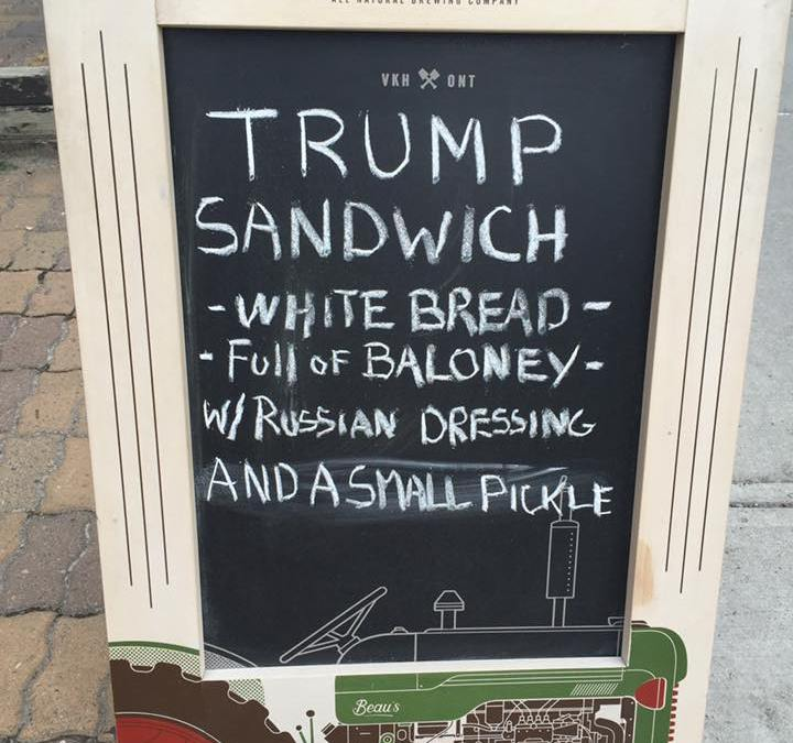 I'm Not Being Political, I'm Just Hungry