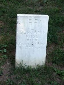 Benjamine Rose d.Sep 1900 aged 57 years (2)