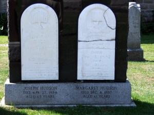 James Hudson d April 27 1884 and Margaret Hudson d Aug 4 1887 (2)
