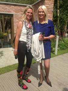 Anneka Rice and Lynne Allbutt