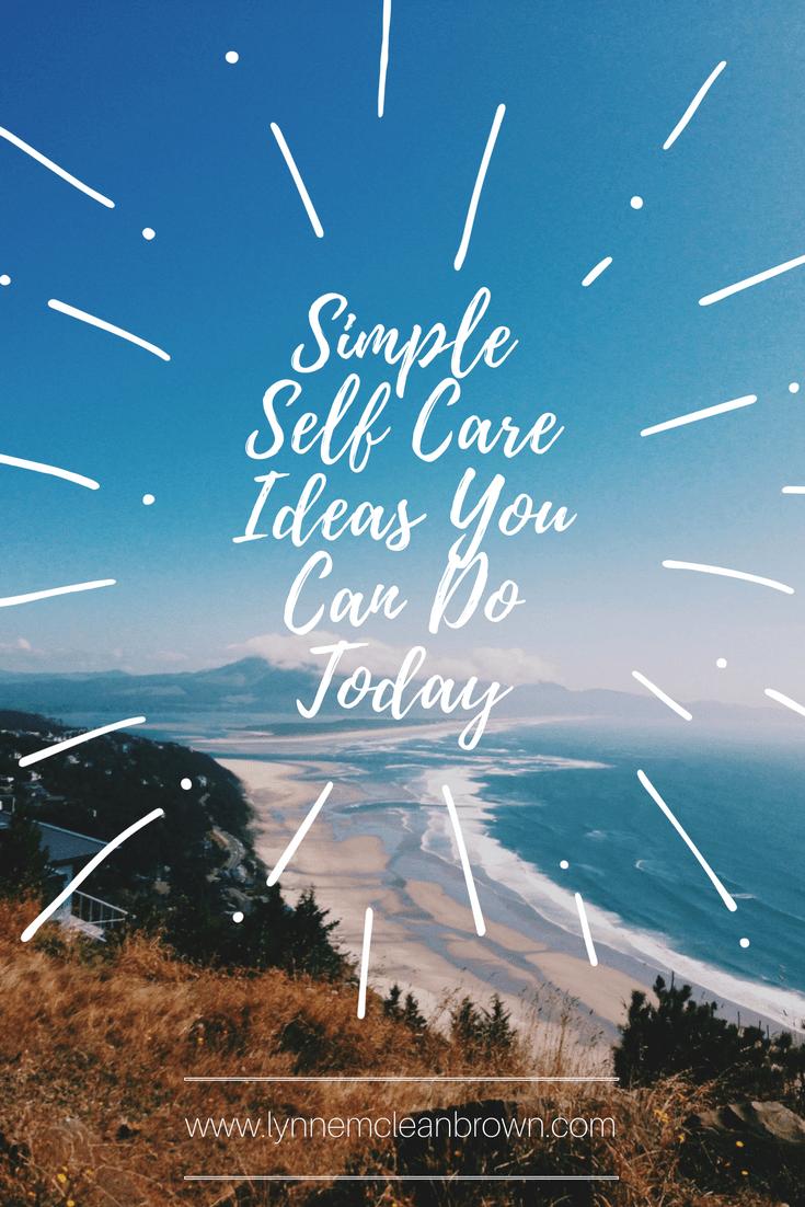 simple self care ideas