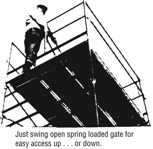 Swing Gate End Panel Scaffold Frames Lynn Scaffolding