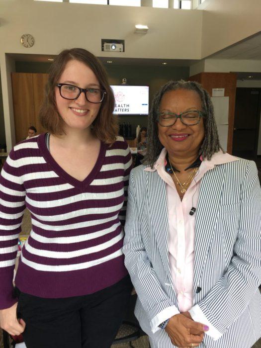 Meeting Senator Angela Bryant at a meeting for my internship