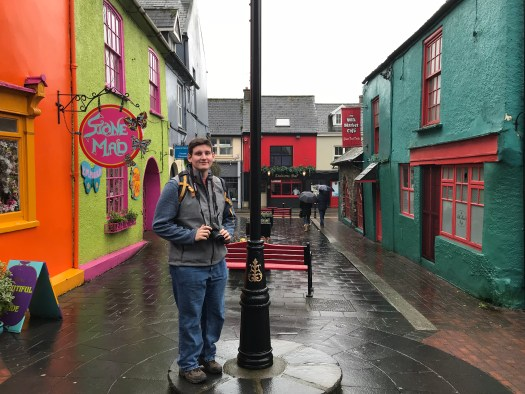 Nick with colorful houses