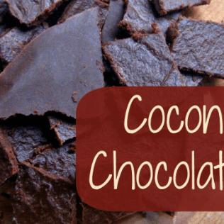 coconut oil chocolate bars