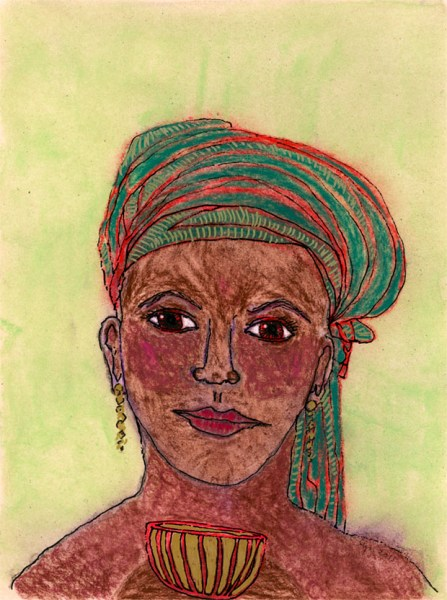 Icon 1022, Girl with Brightly Colored Turban