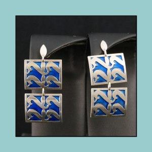 Vintage David Andersen Earrings Millie Behrens Fr