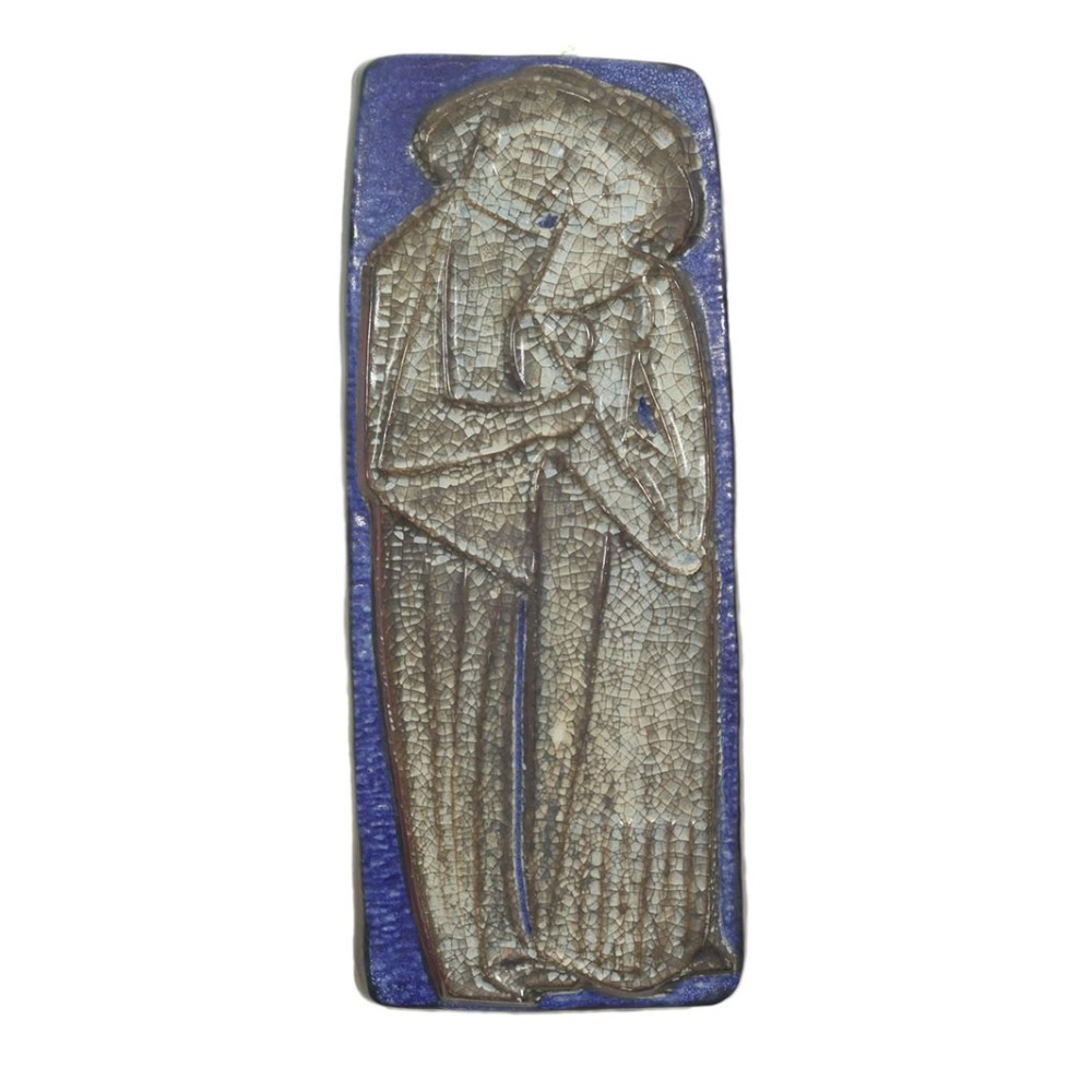 Michael Andersen and Sons Persia glaze wall plaque of couple 5828 Fr