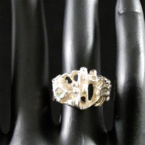 Juhls Silver Tundra Ring Front