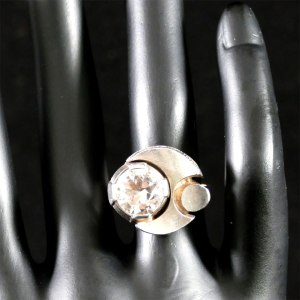 Karl Laine Silver and Rock Crystal Ring Front