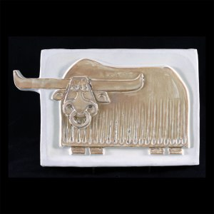 Musk Ox wall plaque Front