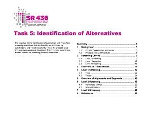 Identification of Alternatives