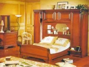 chambres a coucher en merisier