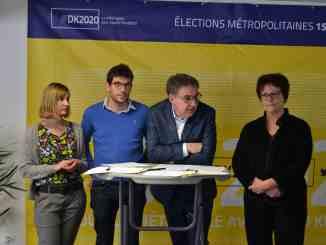 David Kimelfeld et son équipe pour les élections métropolitaines