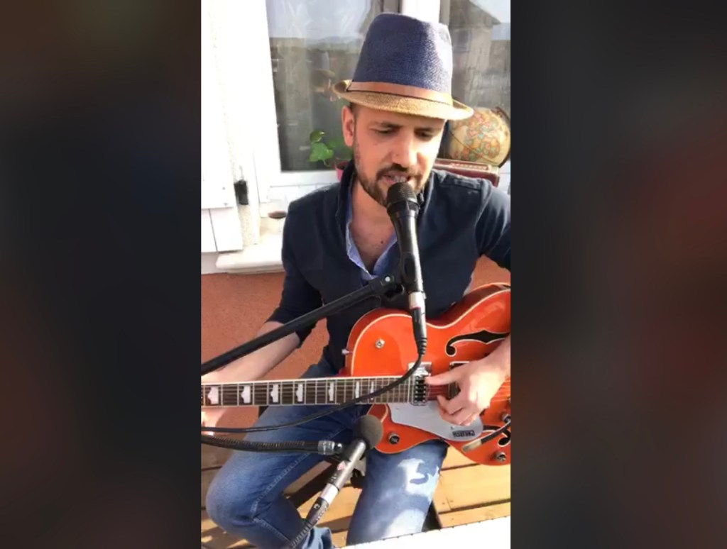 Confinement concert FaceBook Live de Romain Lateltin