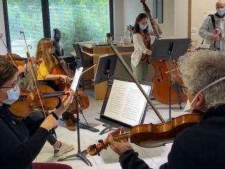 EHPAD des Girondines reçoit les musiciens de l'ONL