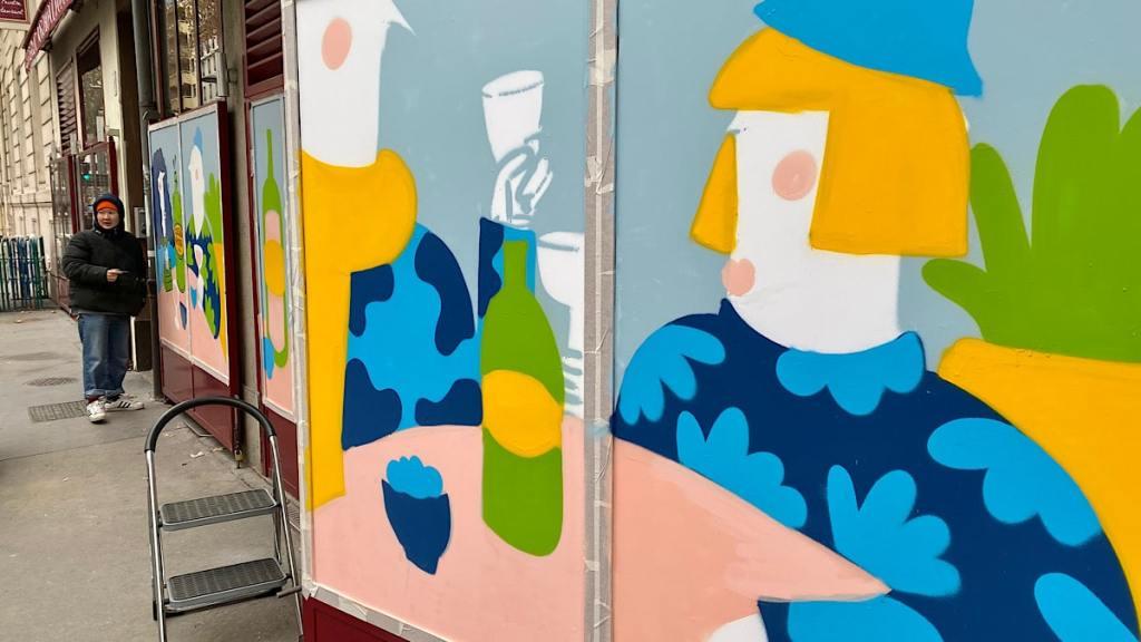 5 artistes s'expriment sur les devantures de restaurants