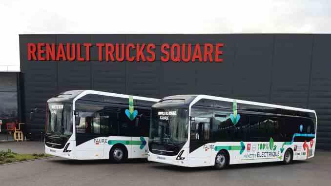 renault-trucks utilise des bus électriques pour ses salariés