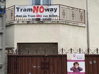 la rue Billon vent debout contre le tramway T6 Nord