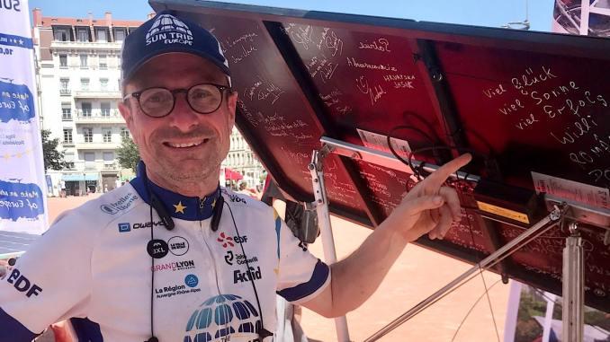 Vélo solaire Tour d'Europe Sun Trip