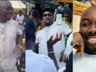 Obi Cubana Shames Poverty, Turns Stacks of N500 Notes to Football at His Mother's Burial