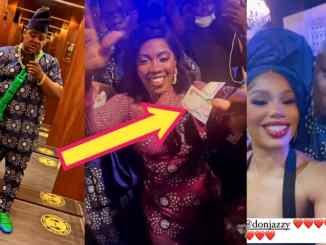Don jazzy, Cubana Chief Priest & Others Storm Tiwa Savage Fathers Funeral And Made Money Rain