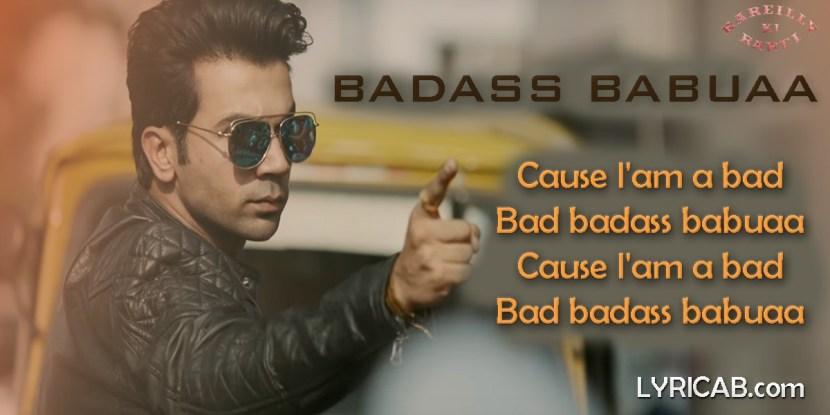 Badass Babuaa song lyrics