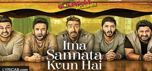 Itna Sannata Kyun Hai song lyrics