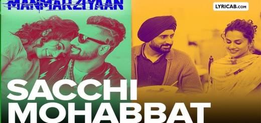 Sacchi Mohabbat song lyrics