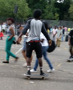 Skateboarder at AFROPUNK