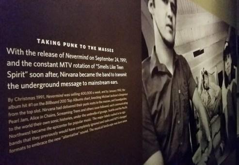 Nirvana sign exhibit at EMP museum